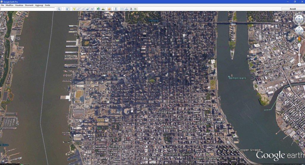 Midtown Manhattan da google maps