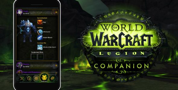 WORLD OF WARCRAFT: LEGION COMPANION APP ORA DISPONIBILE