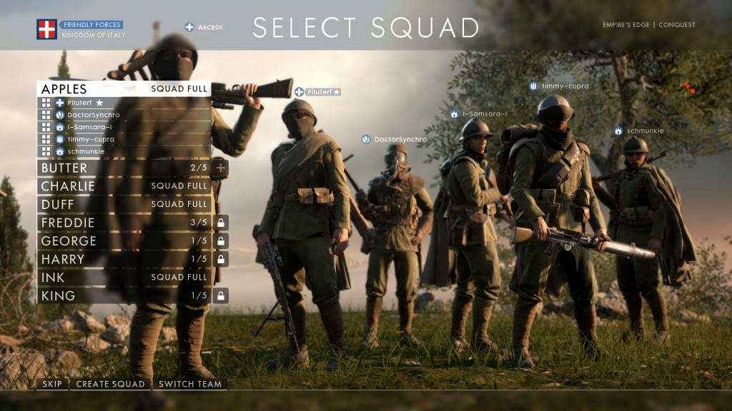 battlefield-1 mmo.it squadre