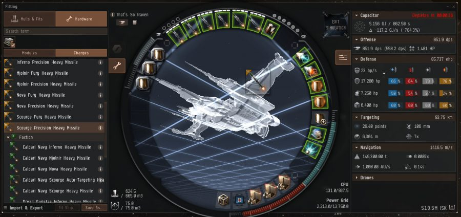 EVE Online Fitting Simulator