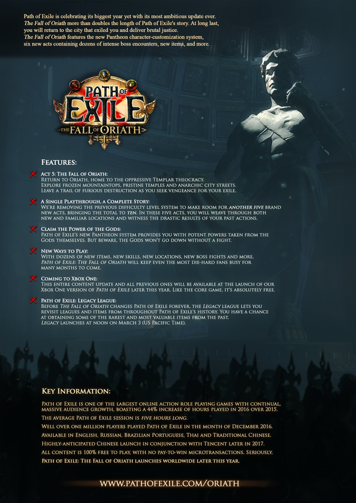 mmorpg path of exile poe espansione expansion list features italia ita