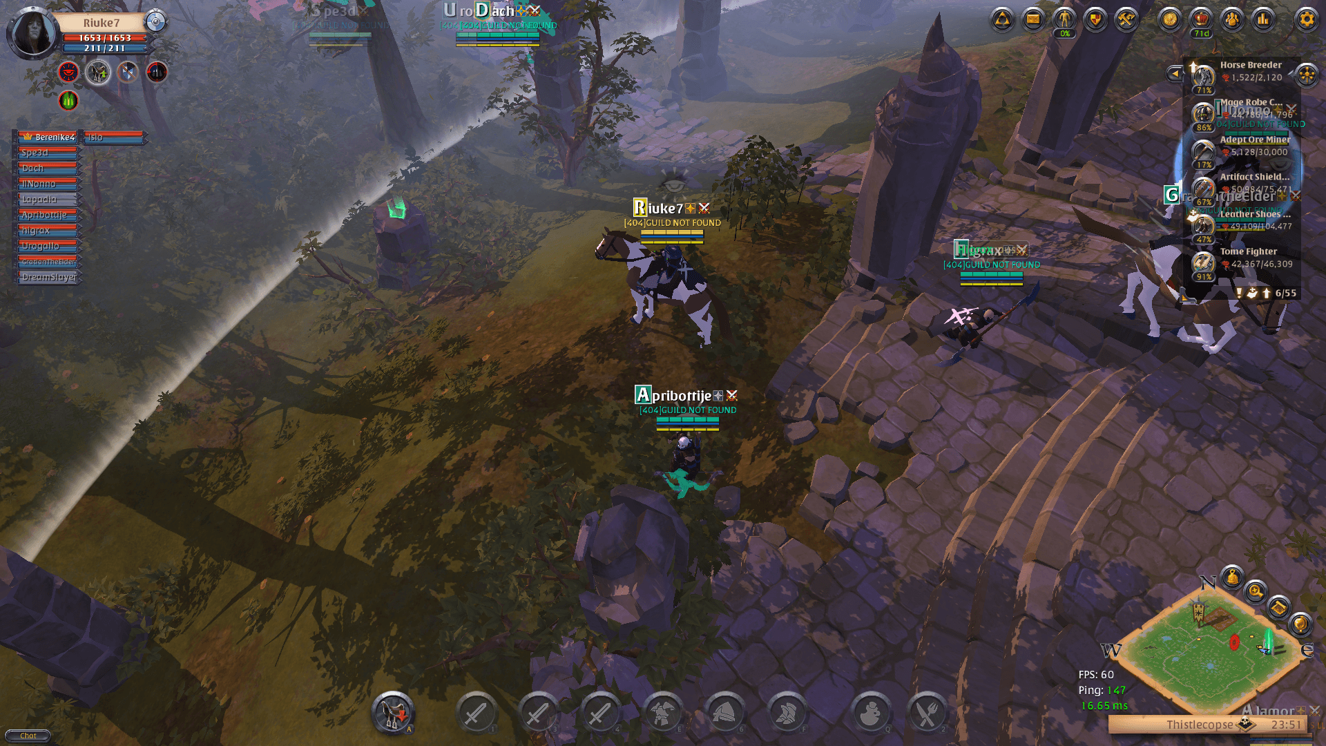 bacheca gilde Guild Not Found Albion Online steam patch guild not found