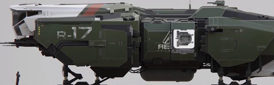 Star Citizen: Arriva una nave da 185 dollari, l'Aegis Vulcan Support Ship
