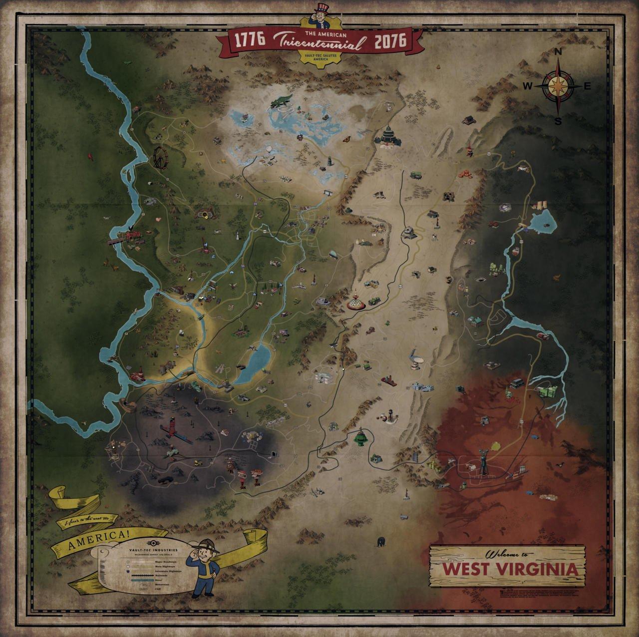 fallout 76 mappa