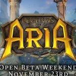 Legends of Aria: weekend gratuito per l'open beta dal 23 al 25 novembre