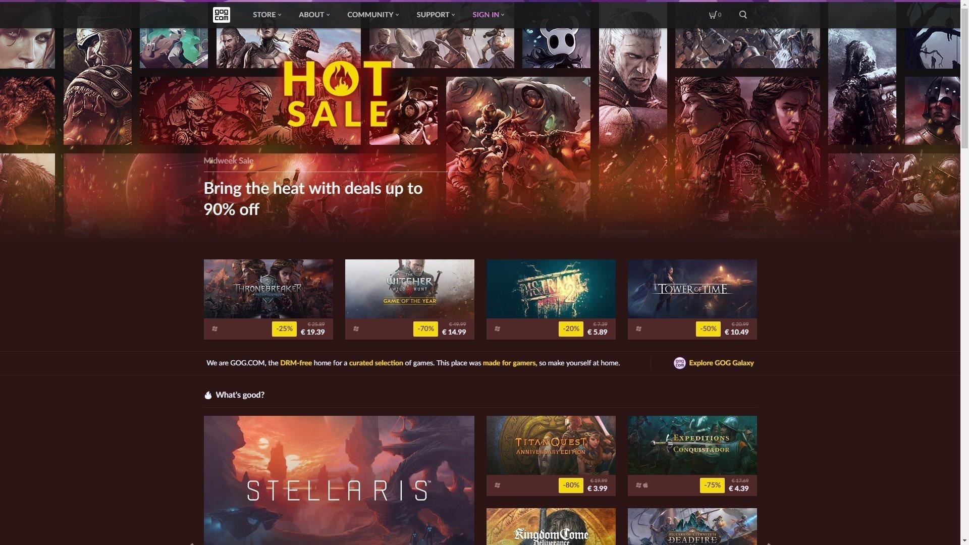 Epic Games Store Steam gaben gabe newell GOG