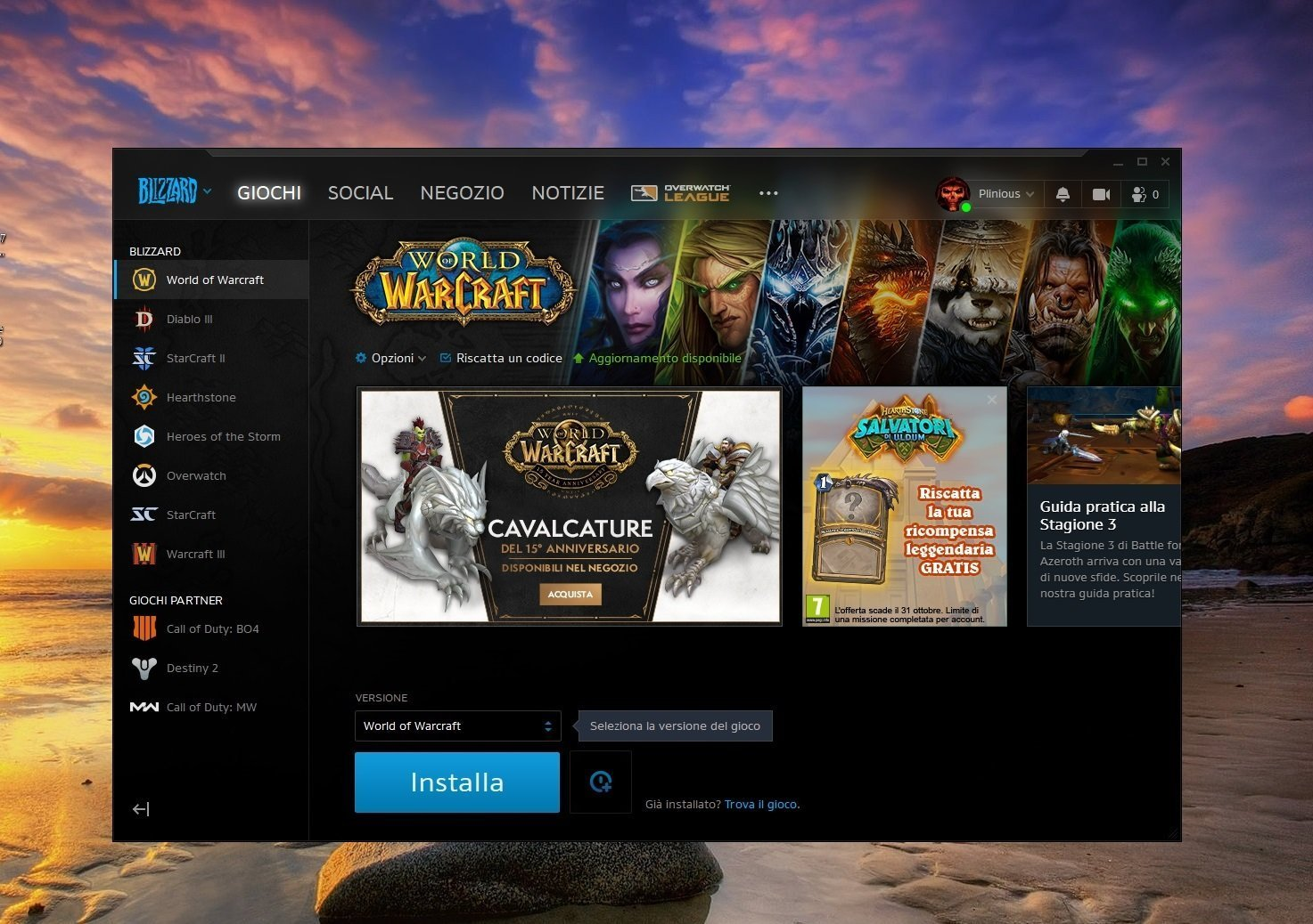 World of Warcraft Classic installazione