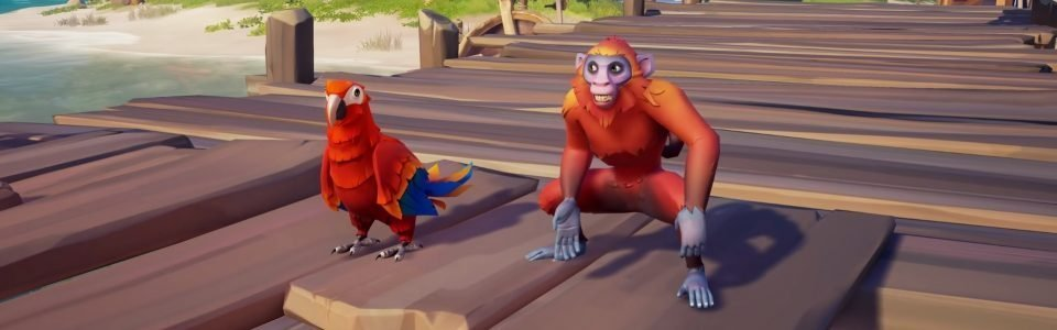 Sea of Thieves: arrivano i pet, da oggi pappagalli e scimmiette