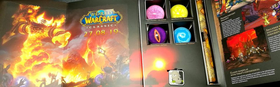 Unboxing del press kit di World of Warcraft Classic – Video