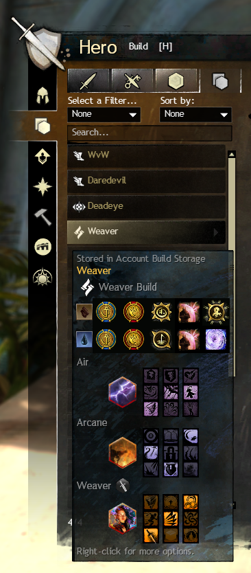 Build Template Sharing e Storage Guild Wars 2 GW2