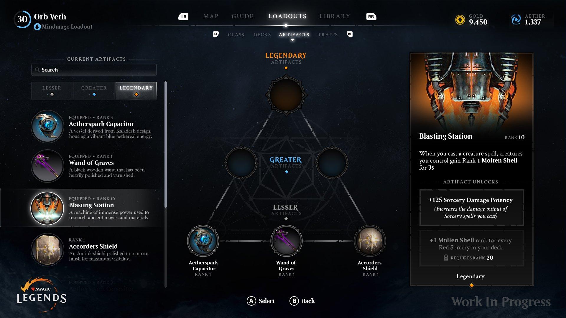 Magic: Legends Magic Legends Artefatti