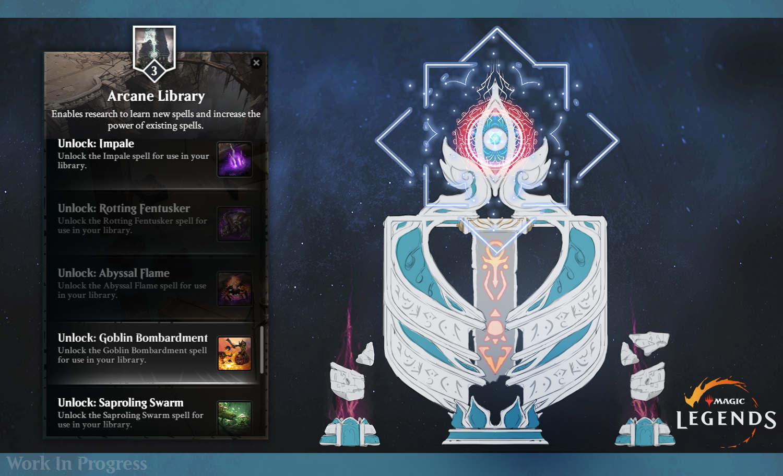 Magic Legends Realm planeswalker Arcane library Magic: Legends