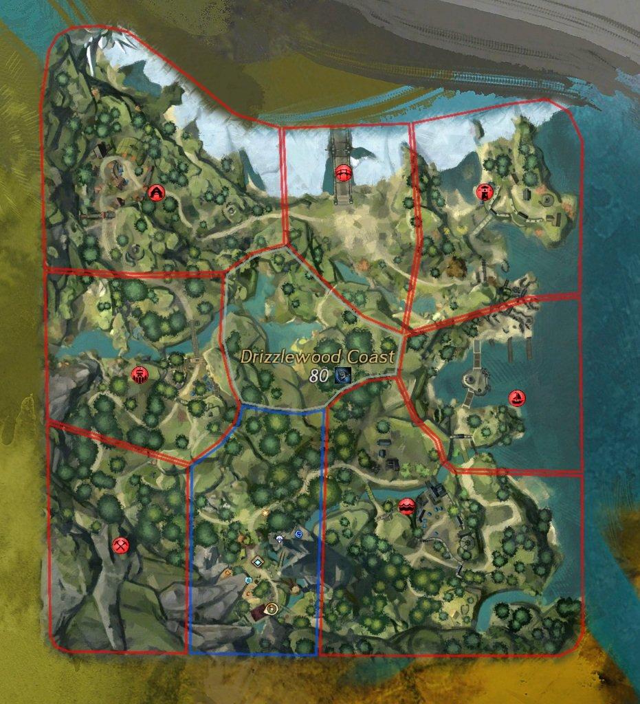 GW2 Drizzlewood Coast No Quarter Map Episodio 3 GW2 Icebrood Saga