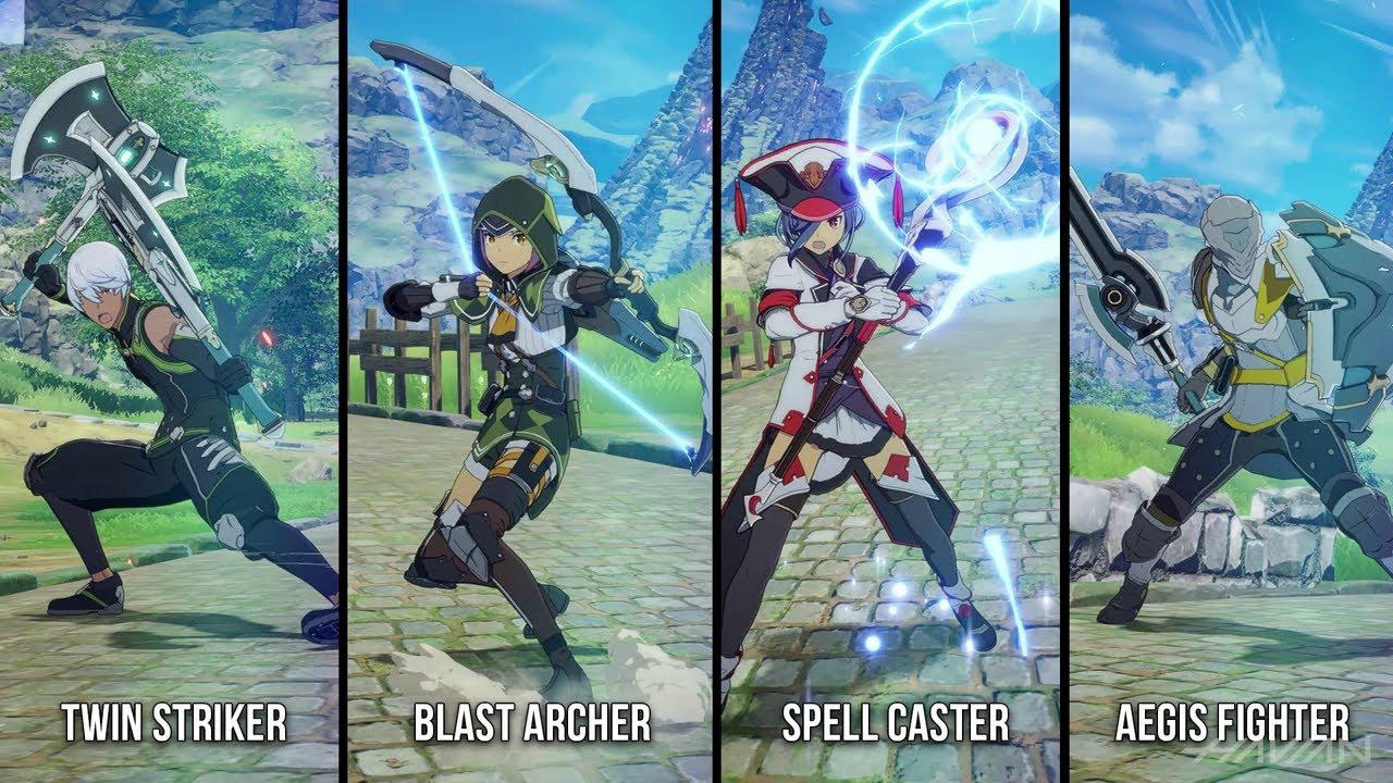 Blue Protocol Le 4 classi giocabili Twin Striker Blast Archer Spell Caster Aegis Fighter