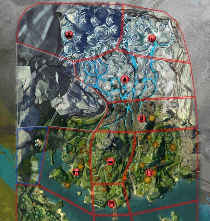Drizzlewood Coast mappa seconda parte Frost Citadel Jormag Rising