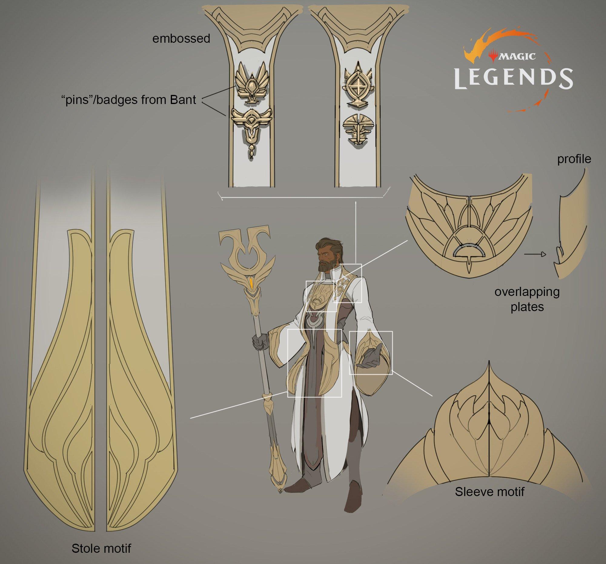 Magic Legends Santifier nuova classe PLaneswalker bianco concept art Magic: Legends