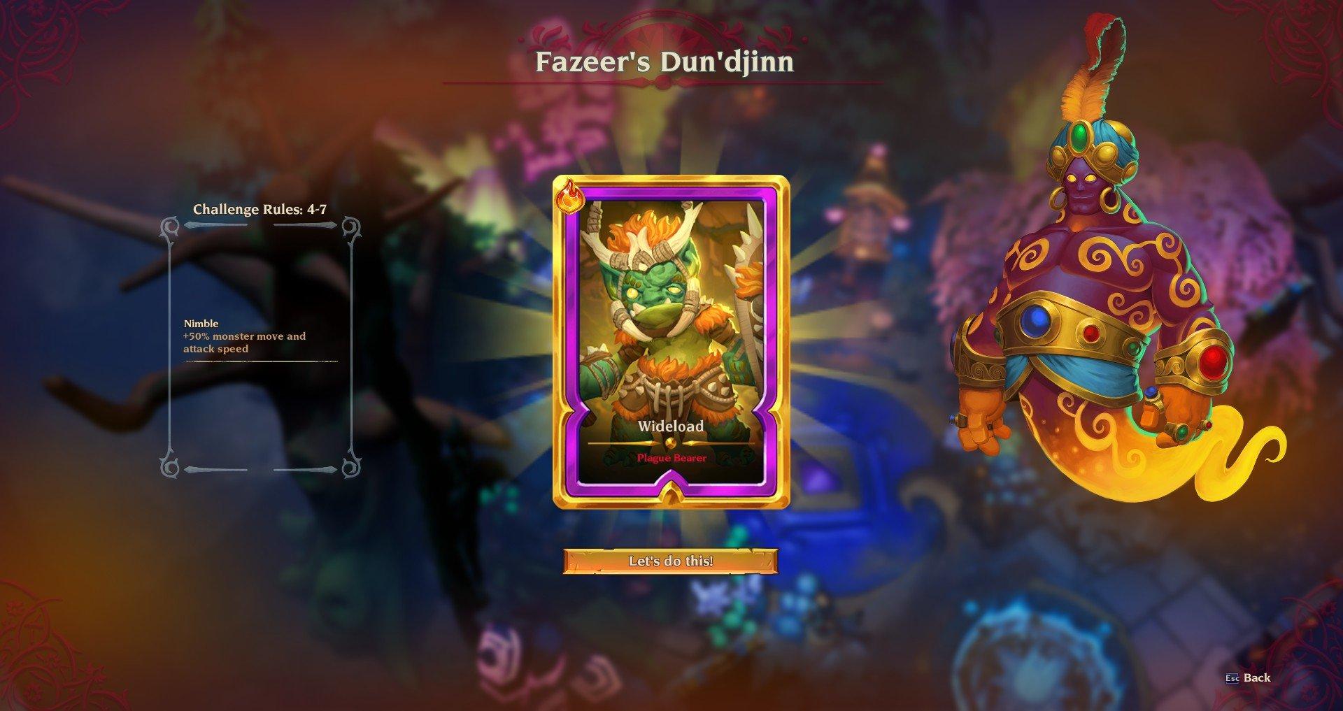 Torchlight 3 endgame Dun'djinn di Fazeer il genio