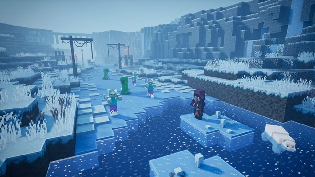Minecraft Dungeons secondo DLC Creeping Winter