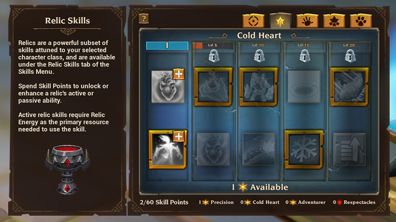 Torchlight 3 sottoclassi reliquie avanzamento abilità