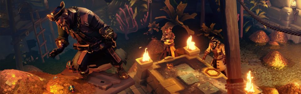 Sea of Thieves: live l'update Vaults of the Ancients, arrivano i cani
