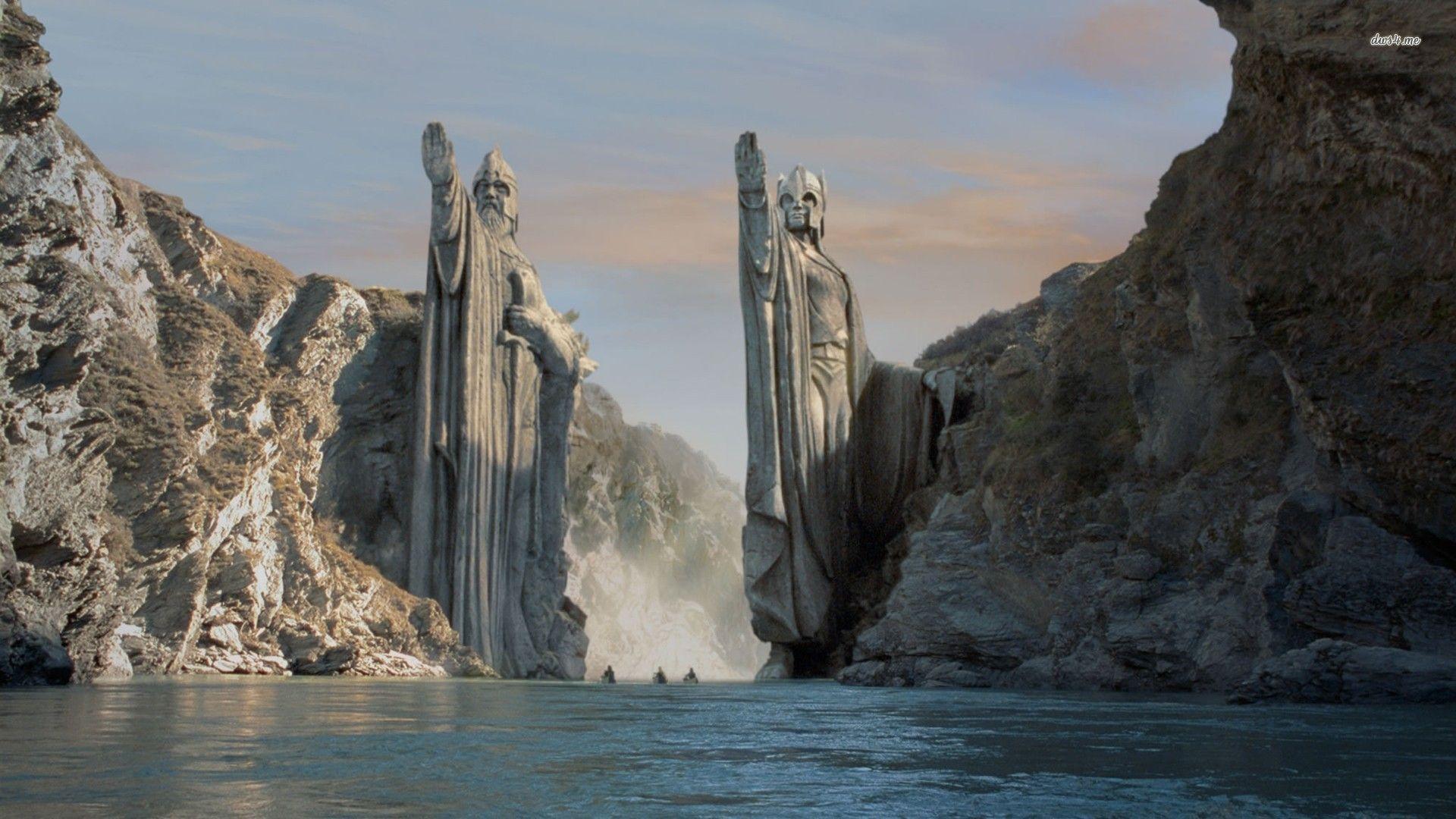 il signore degli anelli argonath the lord of the rings argonath
