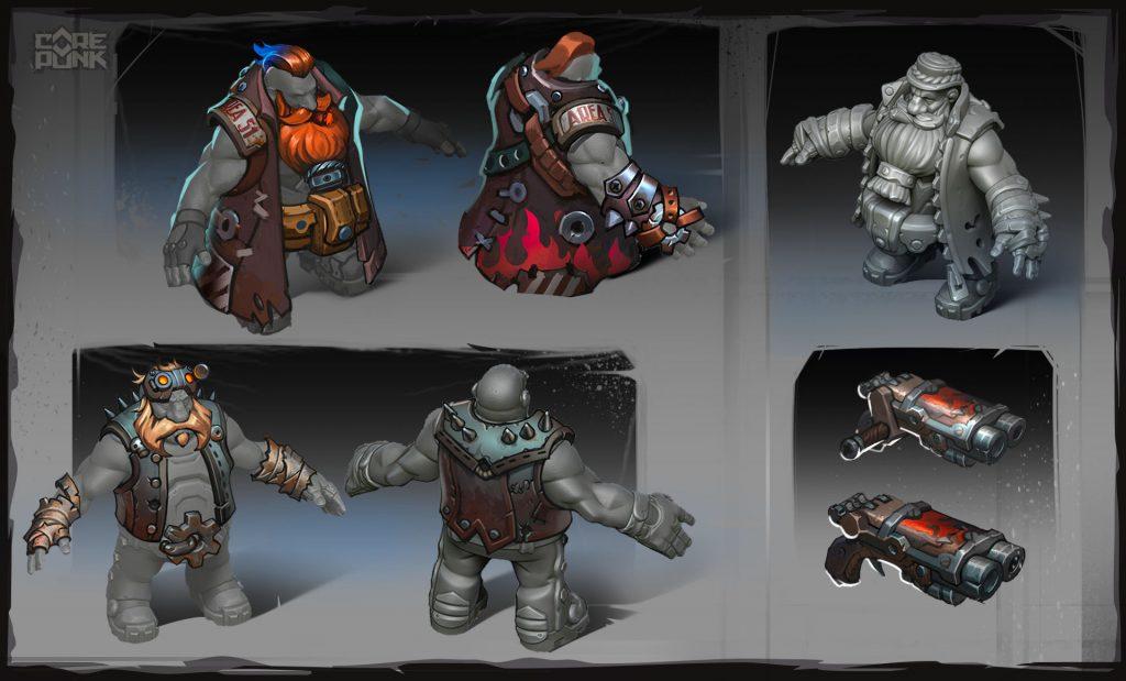 Corepunk personaggio nano classe Bomber
