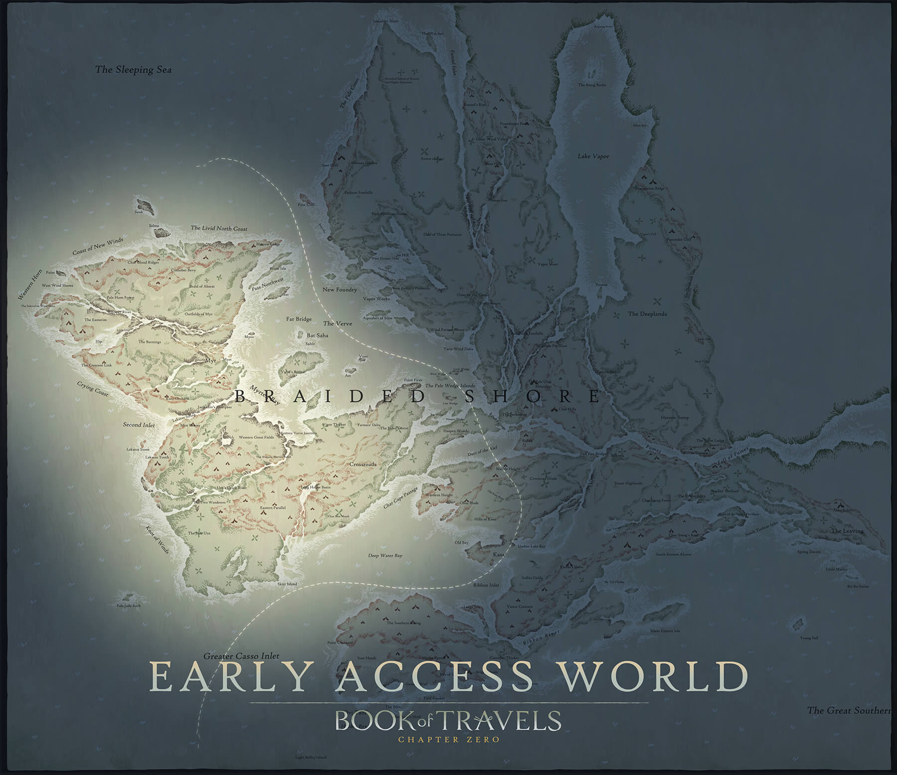 Book of Travels mappa Early Access Book of Travels Early Access