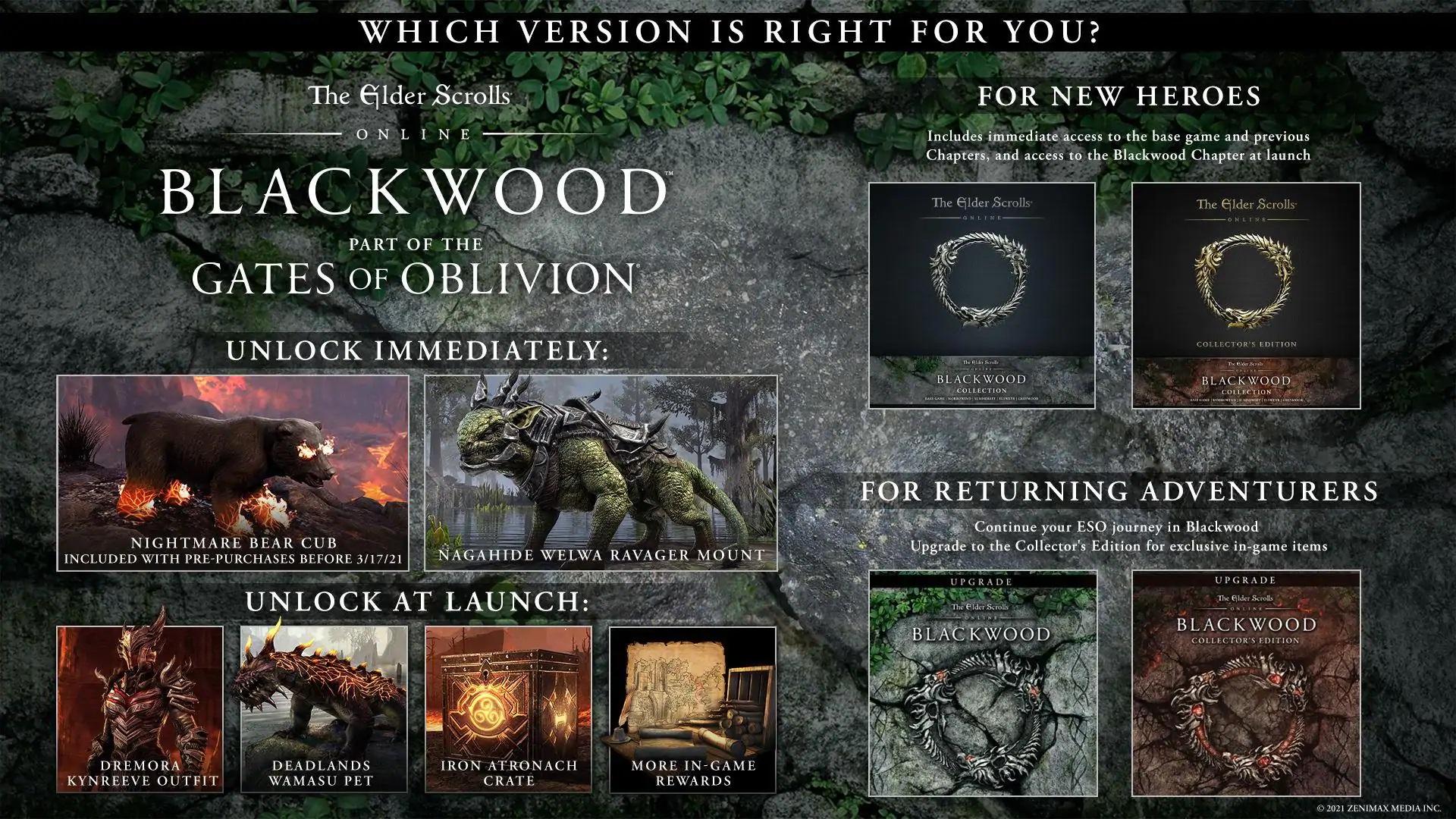 The Elder Scrolls Online Blackwood preorder ESO Blackwood preorder The Elder Scrolls Online gates of oblivion ESO gates of oblivion