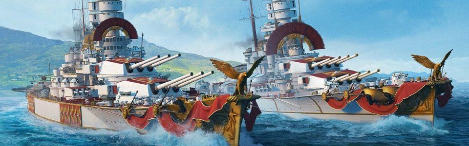 World of Warships: è live l'update con le nuove corazzate italiane