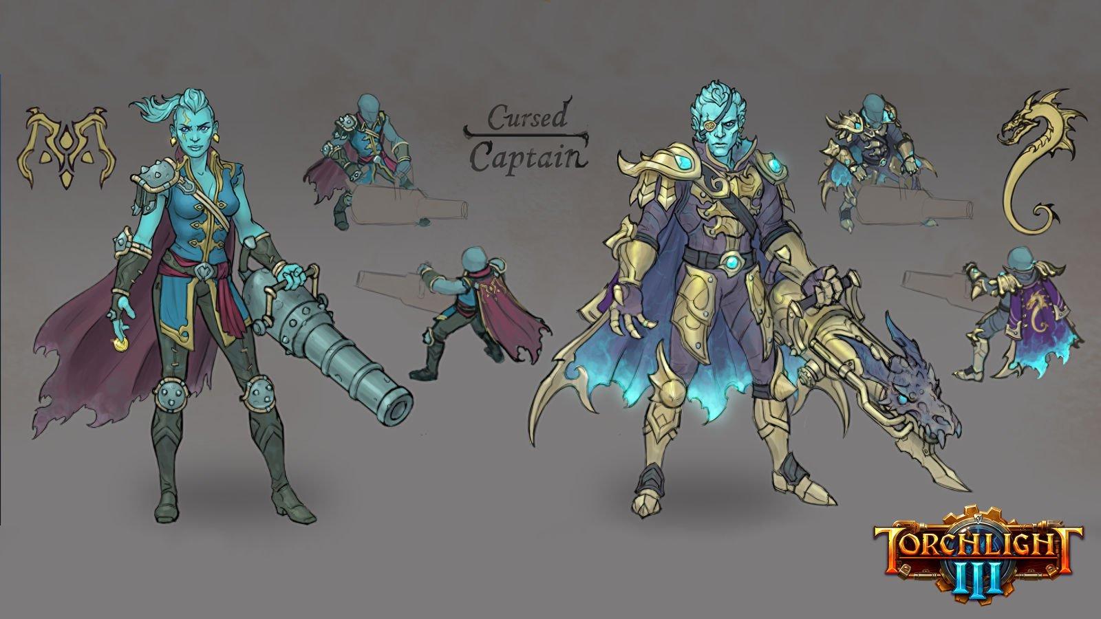 Torchlight 3 In arrivo la nuova classe del Capitano Maledetto Cursed Captain