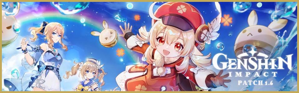 Genshin Impact: annunciato l'update 1.6, video e patch notes