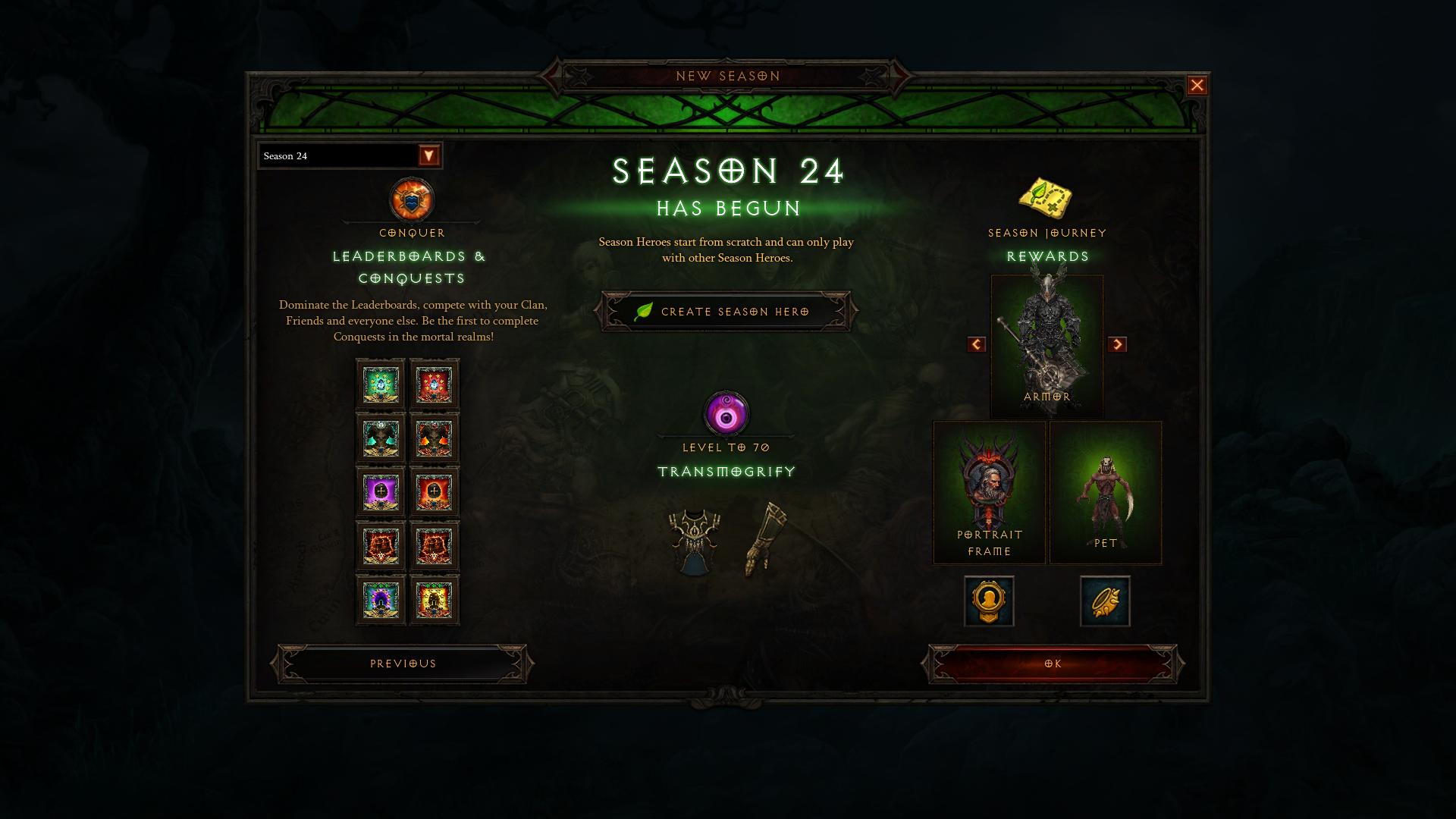 Diablo 3 stagione 24 Diablo 3 season 24 An00bis stagione 24 obiettivi