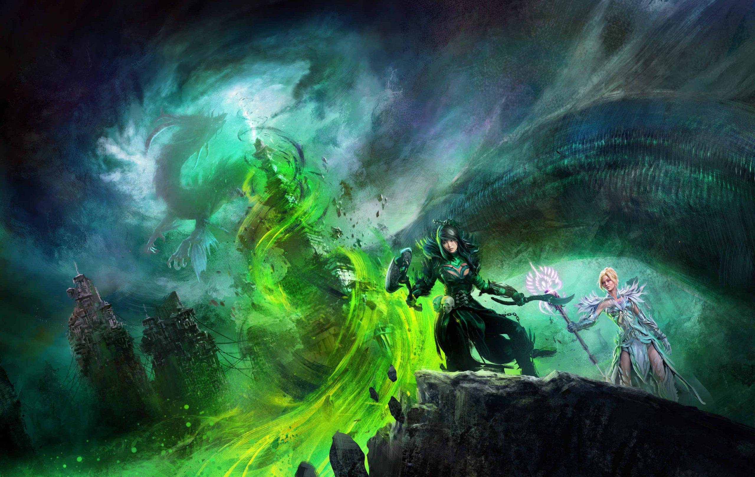 Guild Wars 2 end of dragons GW2 end of dragons GW2 EOD Key Artwork Sea Dragon